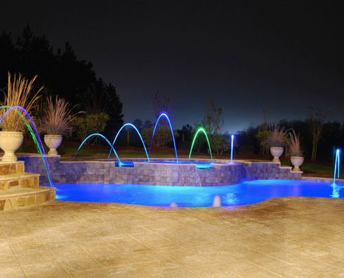 inground pools at night. Exellent Night Trilogyingroundpoolaccessorylights04 And Inground Pools At Night